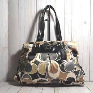 Coach Ashley Scarf Print Carryall Handbag